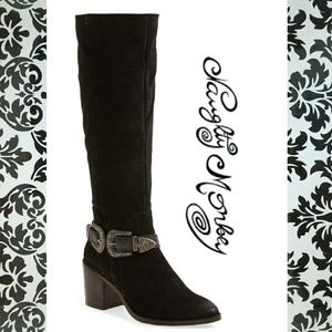 Sassy Naughty Monkey Suede Boots
